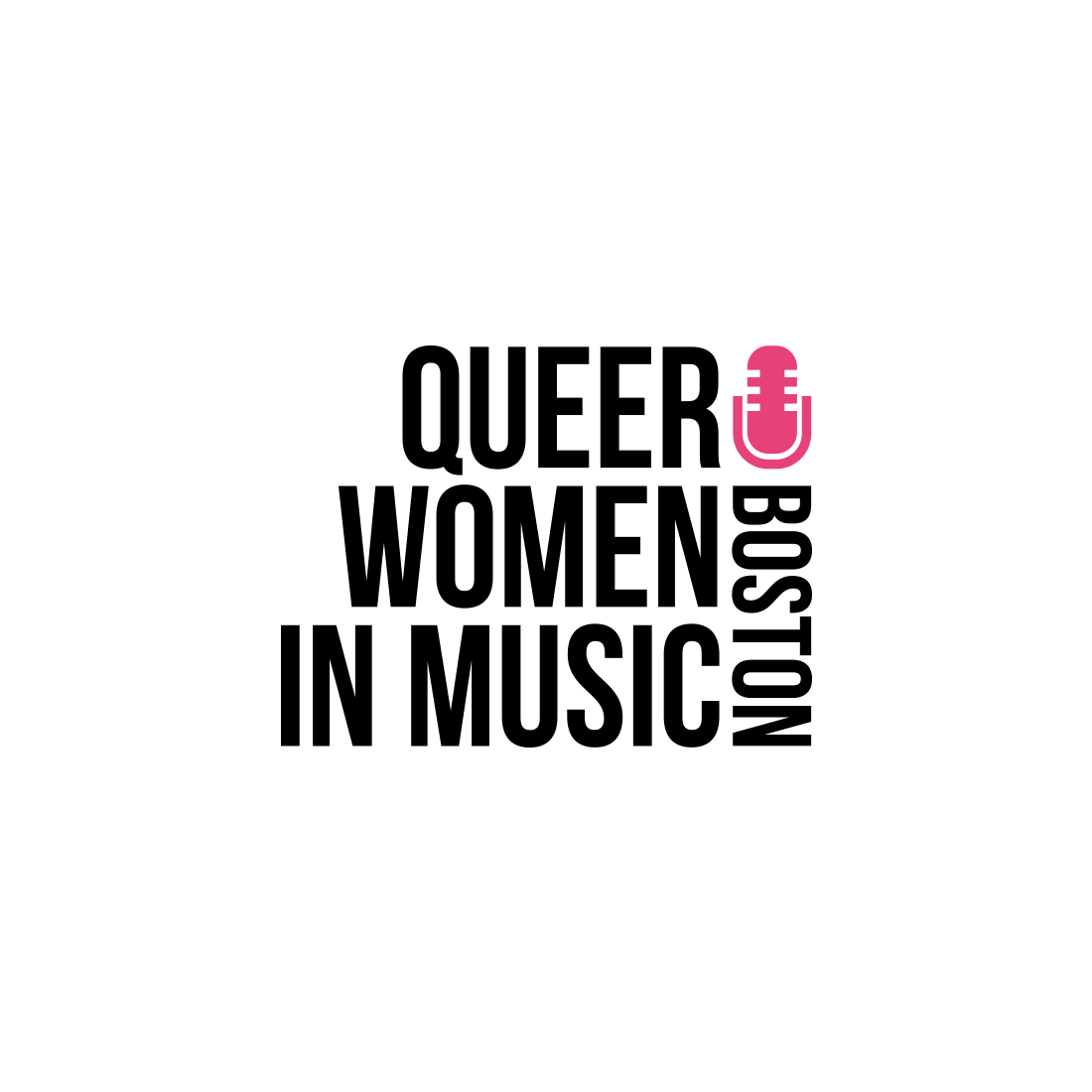 logo for queer woman in music boston